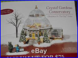 Dept 56 CRYSTAL GARDENS CONSERVATORY Christmas In The City NIB