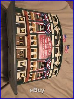 Dept 56 Chicago Cubs Wrigley Field Lighted Stadium Facade Christmas in the City