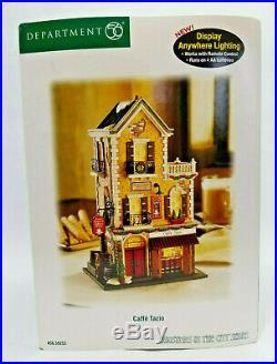 Dept 56- Christmas In The City- Caffe Tazio- #59253 Complete EUC