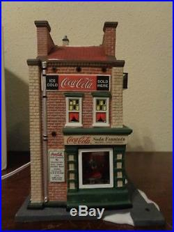 Dept 56 Christmas In The City Coca Cola Soda Fountain 56.59221 WB