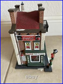 Dept 56 Christmas In The City Coca-Cola Soda Fountain Light Up House