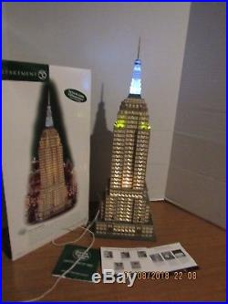 Dept. 56 Christmas In The City Empire State Building All Lights Work Well 59207