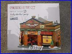 Dept 56 Christmas In The City Harley-davidson Garage Nib