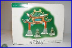 Dept 56 Christmas In The City Series Welcome To Chinatown 807253 SUPER RARE