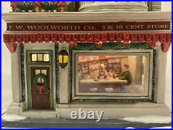 Dept 56 Christmas In The City Woolworths With Guess Your Weight 1 Cent Accessory