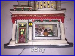 Dept 56 Christmas In The City Woolworths With The Guess Your Weight Figure Rare