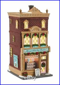 Dept 56 Christmas In the City Cupcakes by Bella 4050912 BRAND NEW 2016 Free Ship