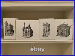 Dept. 56, Christmas in The City, Lot of 15 with Red Brick Fire Station 5536-0