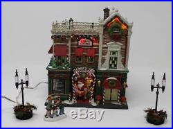 Dept 56 Christmas in the City CIC Visiting Santa at Finestrom's #59243