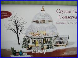 Dept. 56 Christmas in the City CRYSTAL GARDENS CONSERVATORY #59219 Set of 4
