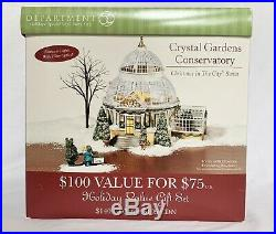 Dept 56 Christmas in the City CRYSTAL GARDENS CONSERVATORY Works