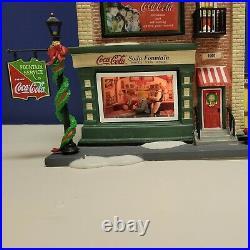 Dept 56 Christmas in the City Coca-Cola Soda Fountain #59221