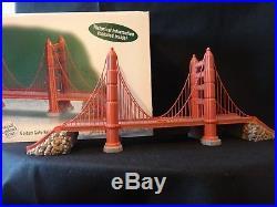 Dept 56 Christmas in the City Golden Gate Bridge Historical Landmark Series