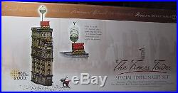 Dept 56 Christmas in the City Retired THE TIMES TOWER #55510-BRAND NEWithBOX