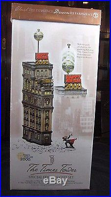 Dept 56 Christmas in the City Retired THE TIMES TOWER Special #55510-NewithBox