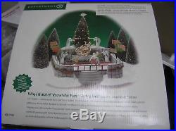 Dept 56 Christmas in the City Rockefeller Plaza Skating Rink #52504 New Tested
