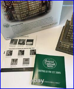 Dept 56 Christmas in the City Series EMPIRE STATE BUILDING 59207 2 Color 1 Flag