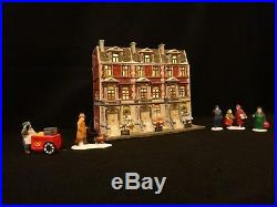 Dept 56 Christmas in the City Sutton Place Brownstones & City People retired