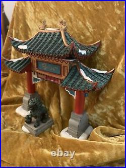 Dept 56 Christmas in the City Welcome to Chinatown (Set of 2) No. 807253