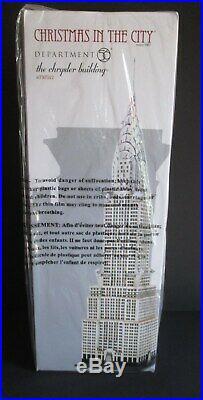 Dept 56 Chrysler Building 4030342 Christmas In The City New Sealed