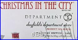 Dept 56 Dayfield's Department Store (808795) Christmas In The City NEW