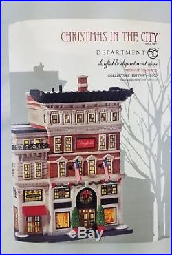 Dept 56 Dayfields Department Store Christmas In The City