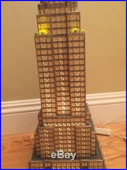 Dept. 56 Empire State Building 2003 Christmas In The City HTF Orig Box 3 Colors