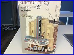 Dept 56 Fox Theater With It's A Wonderful Life Marquee Very Rare Collectors Item