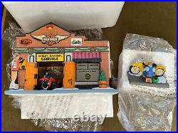 Dept 56 HARLEY DAVIDSON GARAGE & PERFECT EXHAUST NOTE Christmas in the City Rare