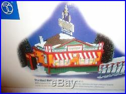 Dept 56 Snow Village Stardust Drive-in Theater With Stardust Refreshment Stand