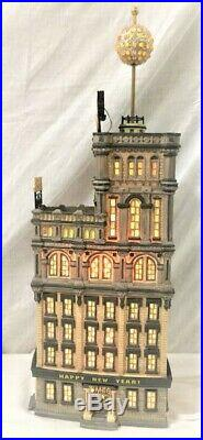Dept 56 Snow Village Xmas in the CITY Times Square Tower NIB New Years Eve BALL