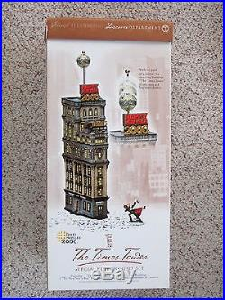 Dept 56 THE TIMES TOWER Christmas in the City #56.55510 with Free Ornament