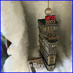 Dept 56 The Times Tower Special Edition Gift Set Retired Never displayed MINT