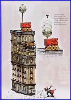 Dept 56 The Times Tower Special Edition Gift Set Times Square 2000 Retired New