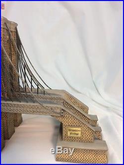 Dept56 Brooklyn Bridge New York Christmas In The City Historical Landmark Series
