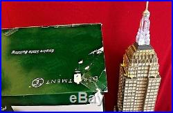 Empire State Building Dept 56 Christmas in the City Series 59207 retired CIC