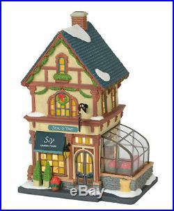 Enesco Dep 56 Christmas in the City Vill. Stems & Vines Garden House NIB 6000572