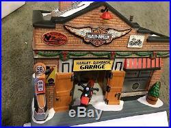 Harley-Davidson GARAGE RARE Dept 56 Christmas In The City #4035565 NICE USED