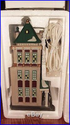 Lot Of 6 Dept 56 Christmas In The City Series Buildings With Boxes Ex. Condition