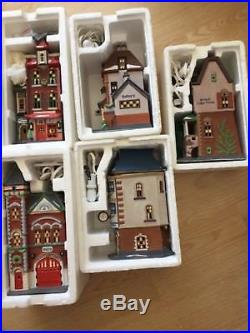 Lot of 5 Department 56 Christmas in the City Lighted Houses Free Shipping