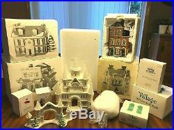 Lot of Dept 56 Original Snow Village & Christmas In The City BUILDINGS, ACCESSOR