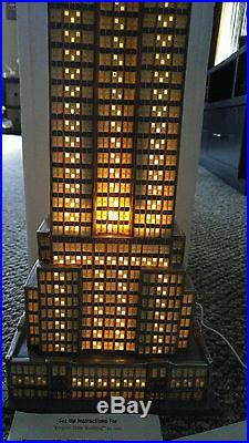 NEW Dept 56 EMPIRE STATE BUILDING #59207 FANTASTIC LIGHTS with ORIGINAL BOX