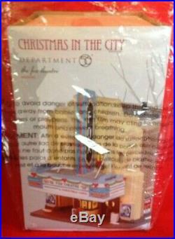 RARE Dept 56 CHRISTMAS IN THE CITY village FOX THEATRE NEON lights 4025242 NIB