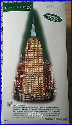 RARE Dept 56 EMPIRE STATE BUILDING Christmas in the City NEVER DISPLAYED