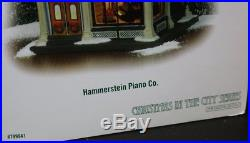 Rare Dept 56 HAMMERSTEIN PIANO CO #799941 Christmas in the City 2007 Mint in Box