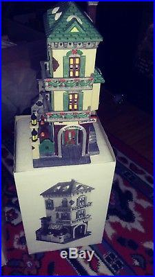Vtg Lot (3)Dept. 56 Christmas In The City Mrs. Stover's Bungalow Candies See list